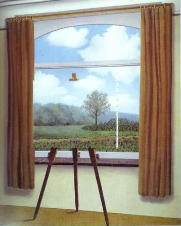 La condizione umana, René Magritte, 1933, Olio su tela, Washington, National Gallery of Art