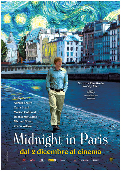 Midnight in Paris, locandina